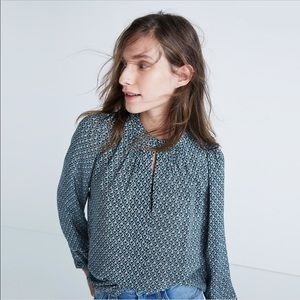 Madewell Silk Memory Blouse In Bandana Floral
